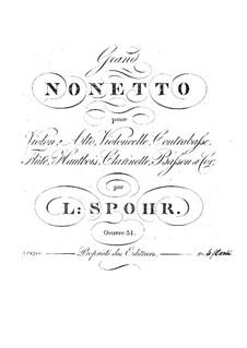 Большой нонет, Op.31: Партии by Луи Шпор