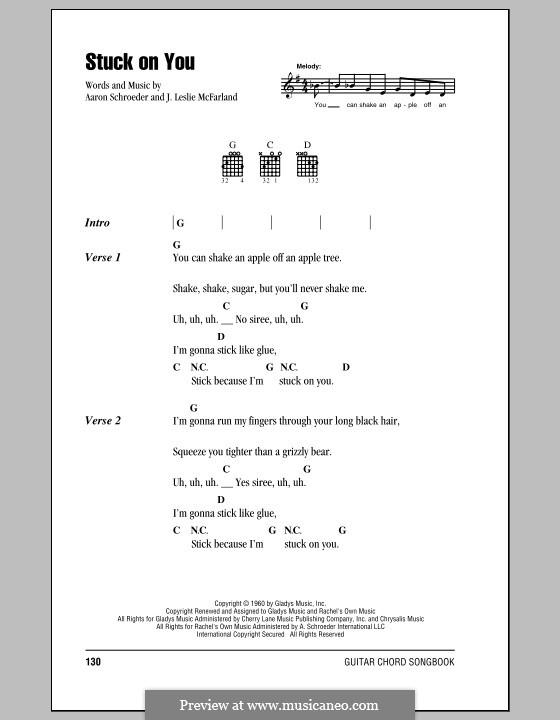 Stuck on You (Elvis Presley): Текст, аккорды by Aaron Schroeder, J. Leslie McFarland