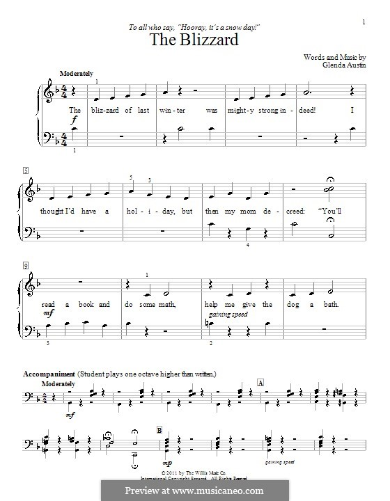 The Blizzard: Для фортепиано by Glenda Austin
