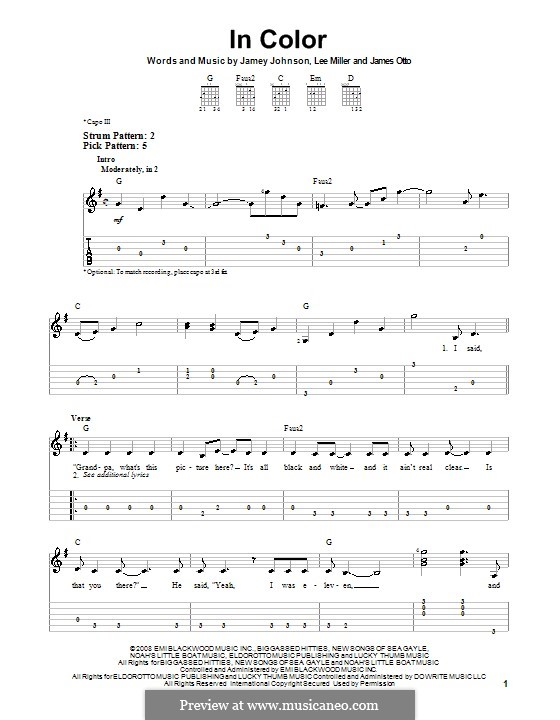 In Color: Для гитары (очень легкая версия) by James Otto, Lee Thomas Miller