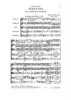 Серенада для струнных ми-бемоль мажор, Op.6: Партитура by Йосеф Сук