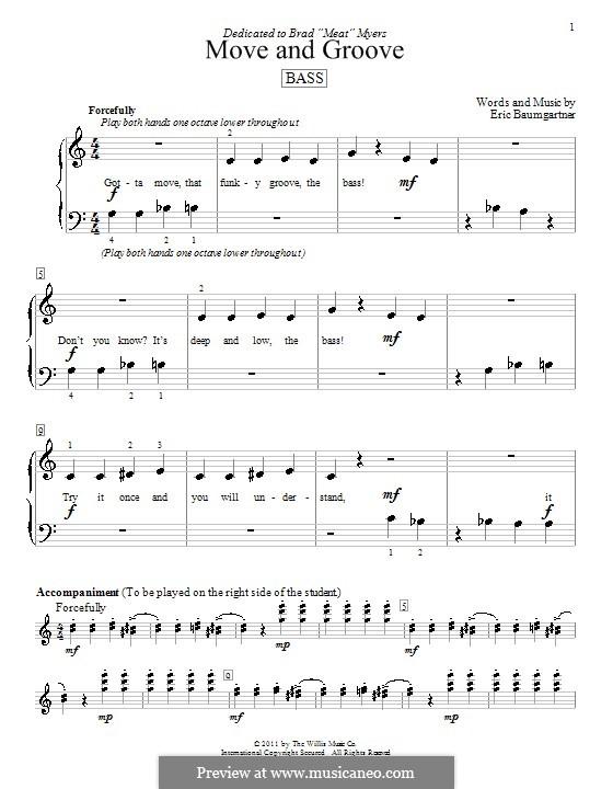 Move and Groove (Bass): Для фортепиано by Eric Baumgartner