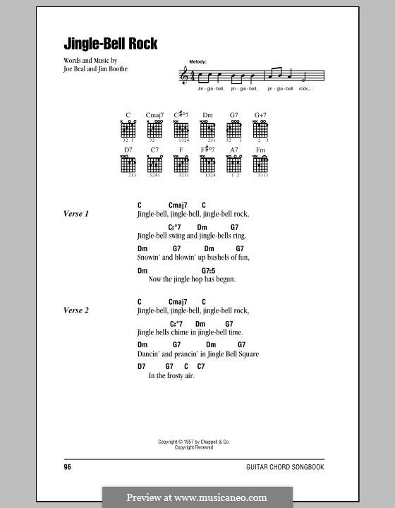 Jingle Bell Rock: Текст, аккорды by Jim Boothe, Joe Beal