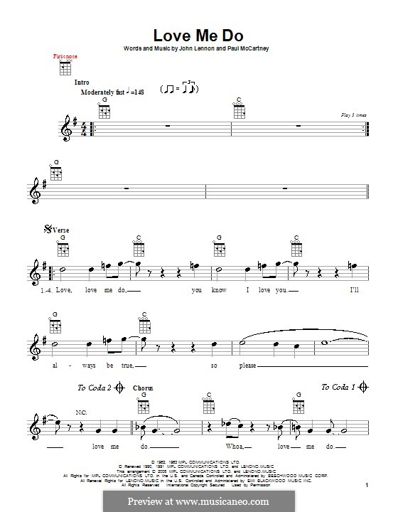 Love Me Do (The Beatles): Для укулеле by John Lennon, Paul McCartney