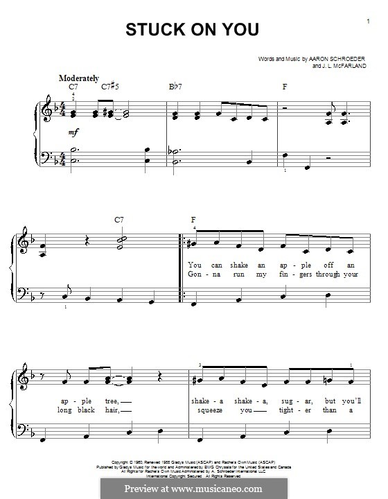 Stuck on You (Elvis Presley): Для начинающего пианиста by Aaron Schroeder, J. Leslie McFarland