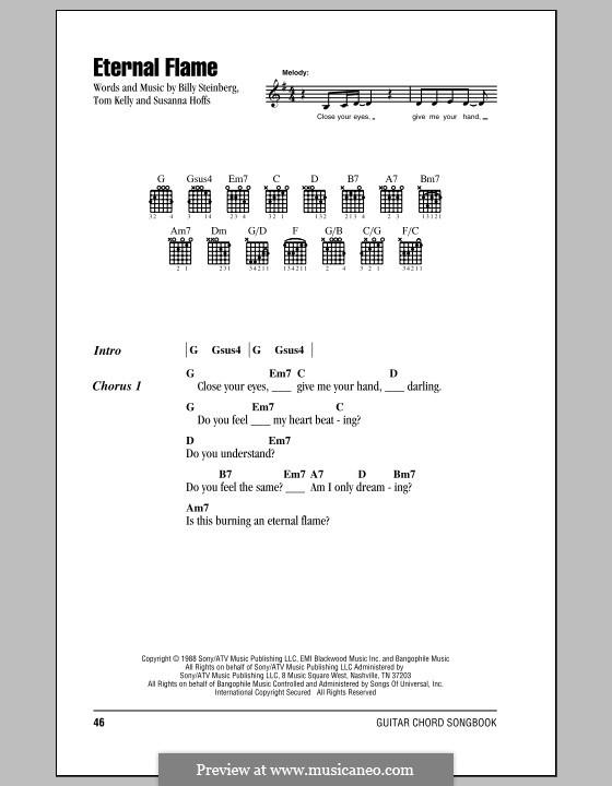 Eternal Flame: Текст, аккорды by Billy Steinberg, Susanna Hoffs, Tom Kelly