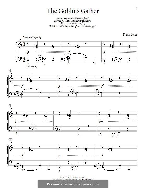 The Goblins Gather: Для фортепиано by Frank Levin