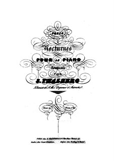Три ноктюрна, Op.21: Три ноктюрна by Сигизмунд Тальберг