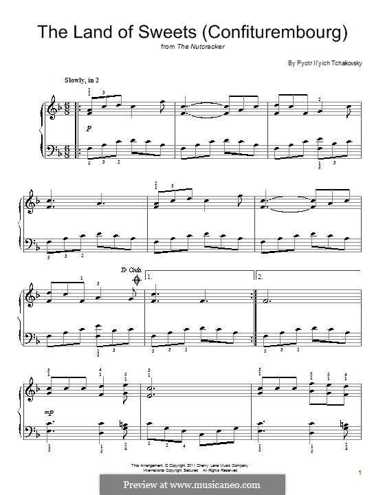 No.10 Сцена (Дворец сластей Конфитюренбург): Аранжировка для фортепиано by Петр Чайковский