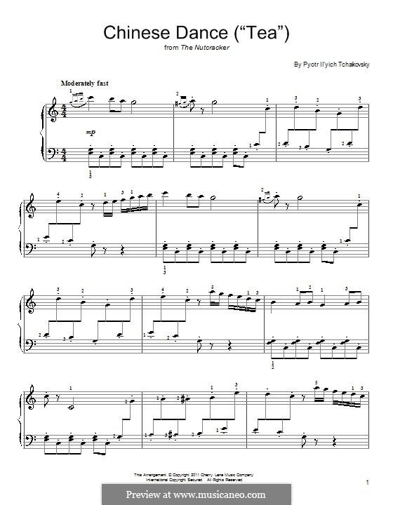 No.6 Китайский танец: Для начинающего пианиста by Петр Чайковский