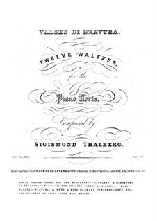 Воспоминание о Вене. Двенадцать вальсов, Op.4: Для фортепиано (publisher by Mori & Lavenu) by Сигизмунд Тальберг