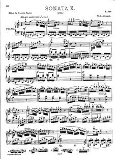 Соната для фортепиано No.10 до мажор, K.330: С аппликатурой by Вольфганг Амадей Моцарт