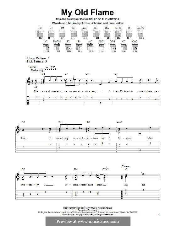 My Old Flame: Для гитары (очень легкая версия) by Sam Coslow, Arthur Johnston