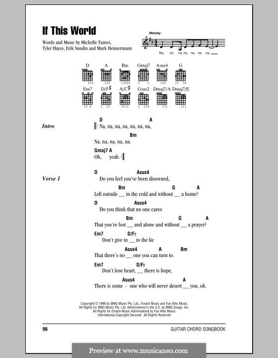 If This World (Jaci Velasquez): Текст, аккорды by Erik Sundin, Mark Heimermann, Michelle Tumes, Tyler Hayes
