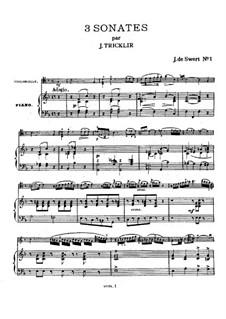 Соната для виолончели и фортепиано No.1: Соната для виолончели и фортепиано No.1 by Жан Бальтазар Триклир
