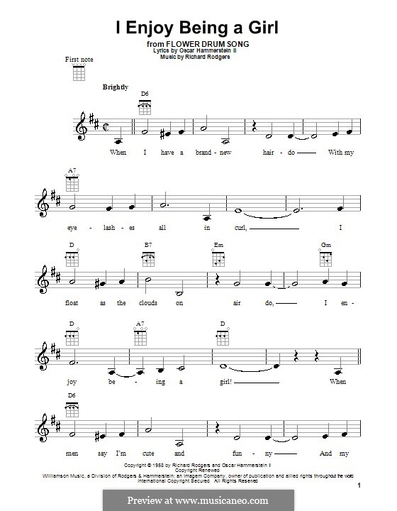 I Enjoy Being a Girl (from Flower Drum Song): Для укулеле by Richard Rodgers