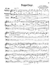 Двойная фуга для органа: Двойная фуга для органа by Вильгельм Валентин Фолькмар