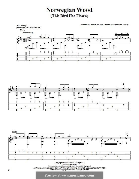 Norwegian Wood (This Bird Has Flown): Для гитары by John Lennon, Paul McCartney