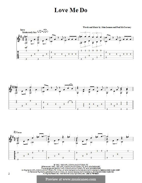 Love Me Do (The Beatles): Для гитары by John Lennon, Paul McCartney