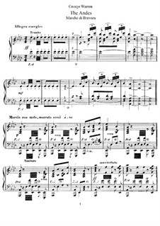 The Andes: Для фортепиано by Джордж Уильям Уоррен