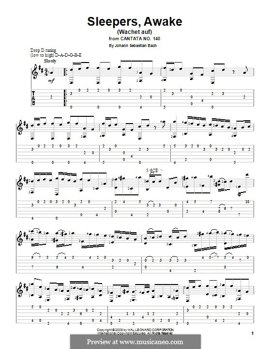 Sleepers, Awake: Для гитары by Иоганн Себастьян Бах
