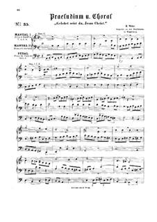 Прелюдия и хорал 'Gelobet seist du, Jesus Christ': Прелюдия и хорал 'Gelobet seist du, Jesus Christ' by Герман Фердинанд Альберт Вильгельм Вее