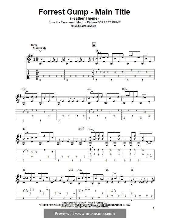 Forrest Gump Suite (Theme): Для гитары by Alan Silvestri