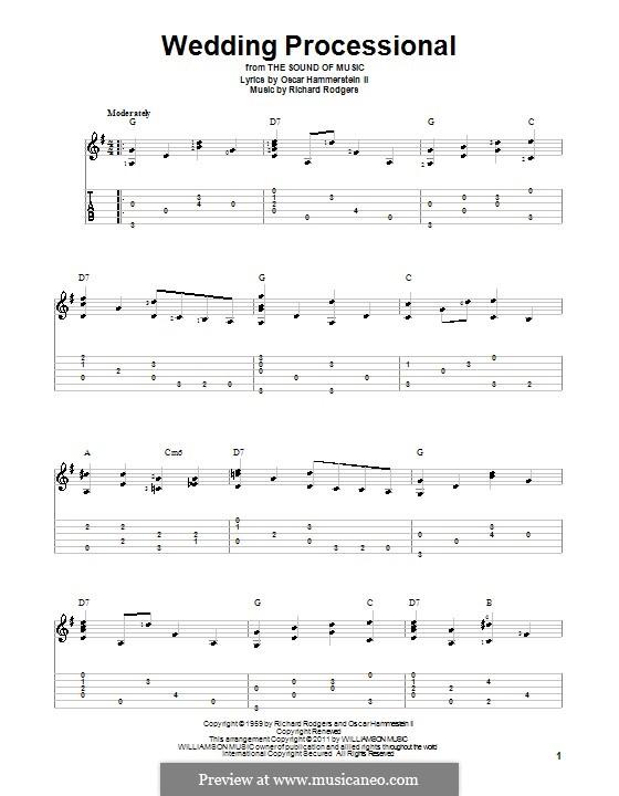 Wedding Processional: Гитарная табулатура by Richard Rodgers