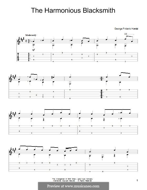 Сюита No.5 ми мажор, HWV 430: Часть III, для гитары by Георг Фридрих Гендель