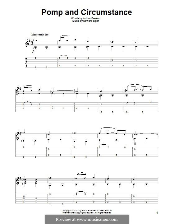 Pomp and Circumstance: Для гитары by Эдуард Элгар