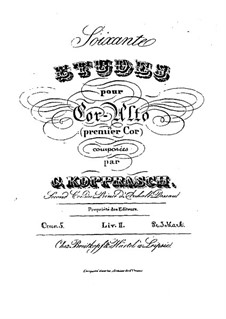 Soixante etudes pour cor-alto, Op.5: Livre II by Георг Копраш