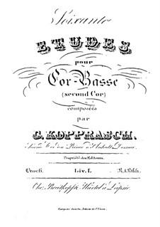 Soixante etudes pour cor-basse, Op.6: Livre I by Георг Копраш