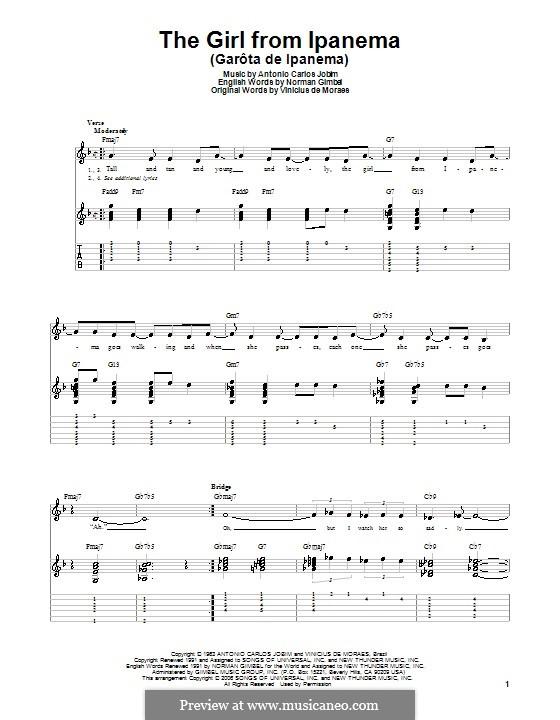 The Girl from Ipanema (Garota de Ipanema): Для гитары by Antonio Carlos Jobim