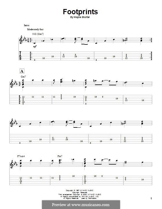 Footprints: Гитарная табулатура by Wayne Shorter