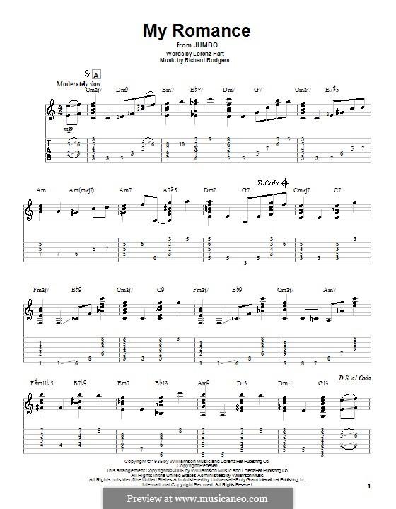 My Romance: Гитарная табулатура by Richard Rodgers