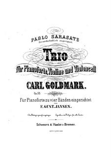 Фортепианное трио ми минор, Op.33: Партитура и партии by Карл Голдмарк