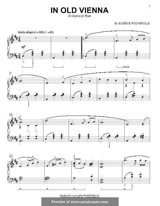 In Old Vienna: Для фортепиано by Eugénie Rocherolle