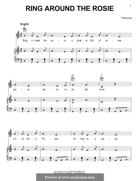 Ring Around the Rosie: Для голоса и фортепиано (или гитары) by folklore