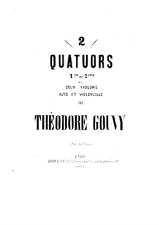 Струнный квартет No.1, Op.16: Партии by Луи Теодор Гуви