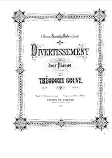 Дивертисмент для двух фортепиано, Op.78: Первая и вторая партии by Луи Теодор Гуви