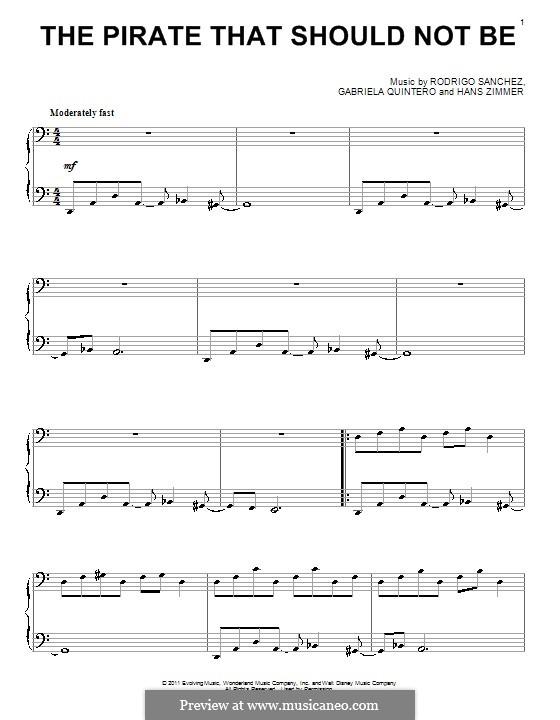 The Pirate That Should Not Be: Для фортепиано by Gabriela Quintero, Rodrigo Sánchez