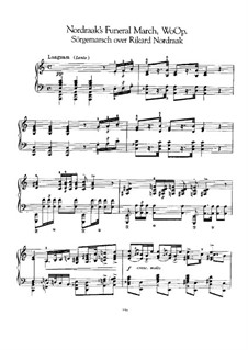 Похоронный марш памяти Рикарда Нордрока, EG 107: Для фортепиано by Эдвард Григ