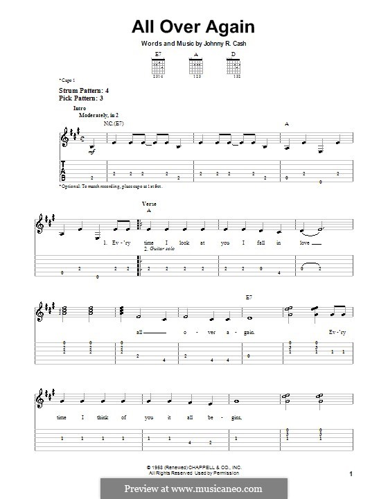 All Over Again: Для гитары (очень легкая версия) by Johnny Cash
