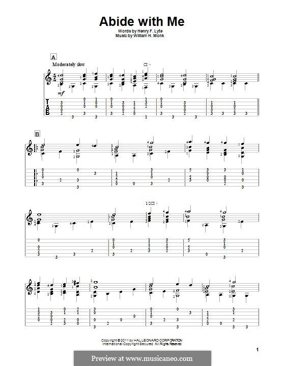 Пребудь со мной: Для гитары by Уильям Генри Монк