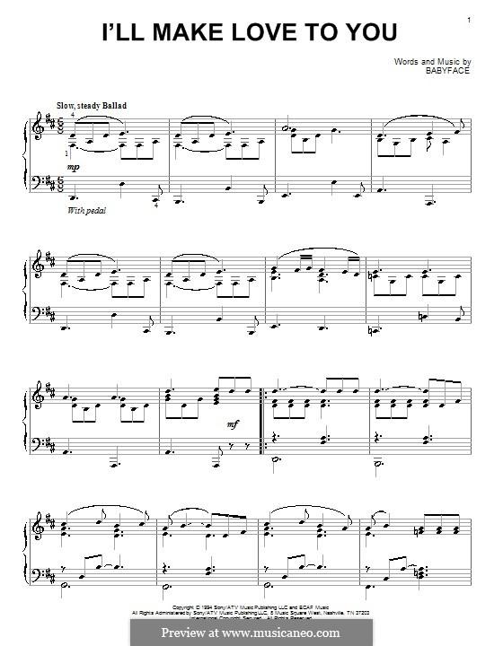 I'll Make Love to Yous (Boyz II Men): Для фортепиано by Kenneth 'Babyface' Edmonds