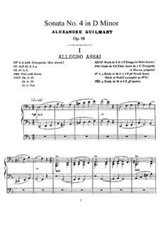 Соната для органа No.4 ре минор, Op.61: Соната для органа No.4 ре минор by Александр Гильман