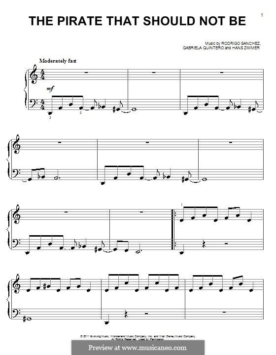 The Pirate That Should Not Be: Для начинающего пианиста by Gabriela Quintero, Rodrigo Sánchez