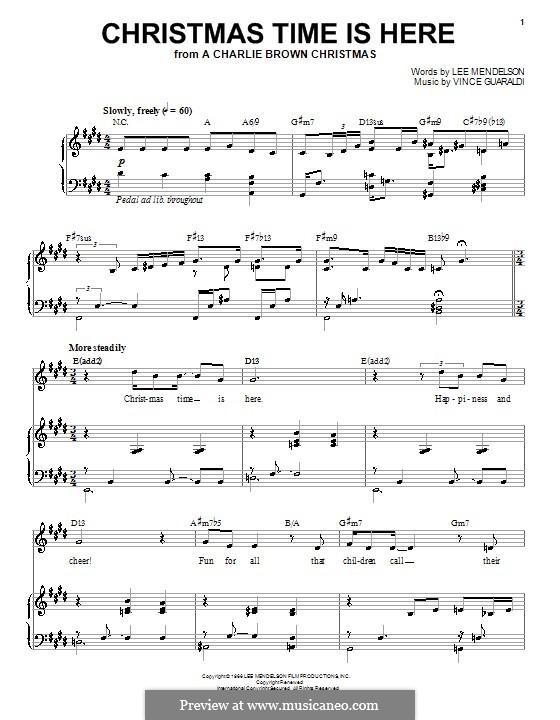 Christmas Time is Here: Для голоса и фортепиано (Diana Krall) by Vince Guaraldi