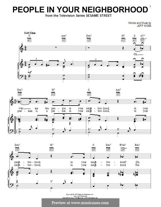 People in Your Neighborhood: Для голоса и фортепиано (или гитары) by Jeff Moss