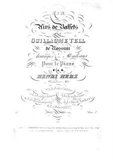 No.3 Airs de ballet: Аранжировка для фортепиано by Джоаккино Россини